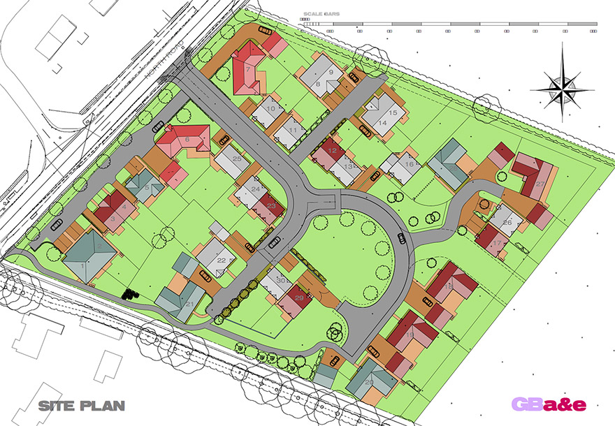 Mill Fields South Kilworth Site Plan