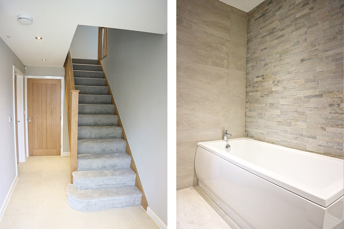 The Harrington at Mill Fields, South Kilworth (Plot 21) Stairs & Bathroom