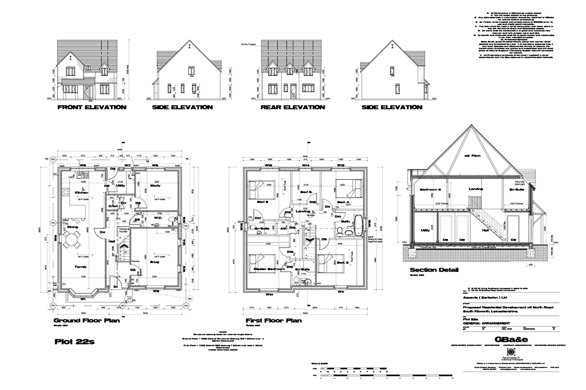 Mill Fields South Kilworth Plot 22 The Huntingdon Plans