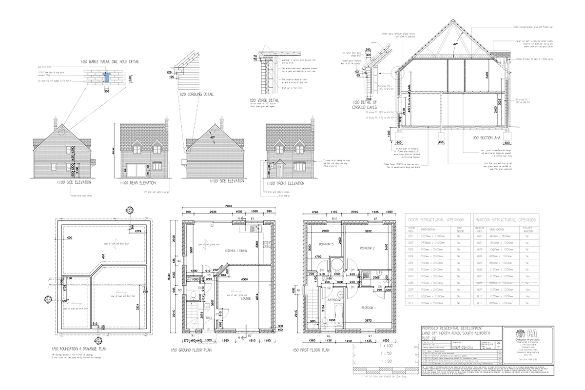 Mill Fields South Kilworth Plot 26 The Chester Plans