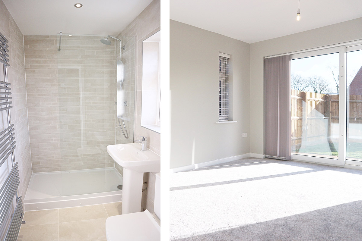The Pembroke at Mill Fields, South Kilworth (Plot 6) Bathroom & Living Room