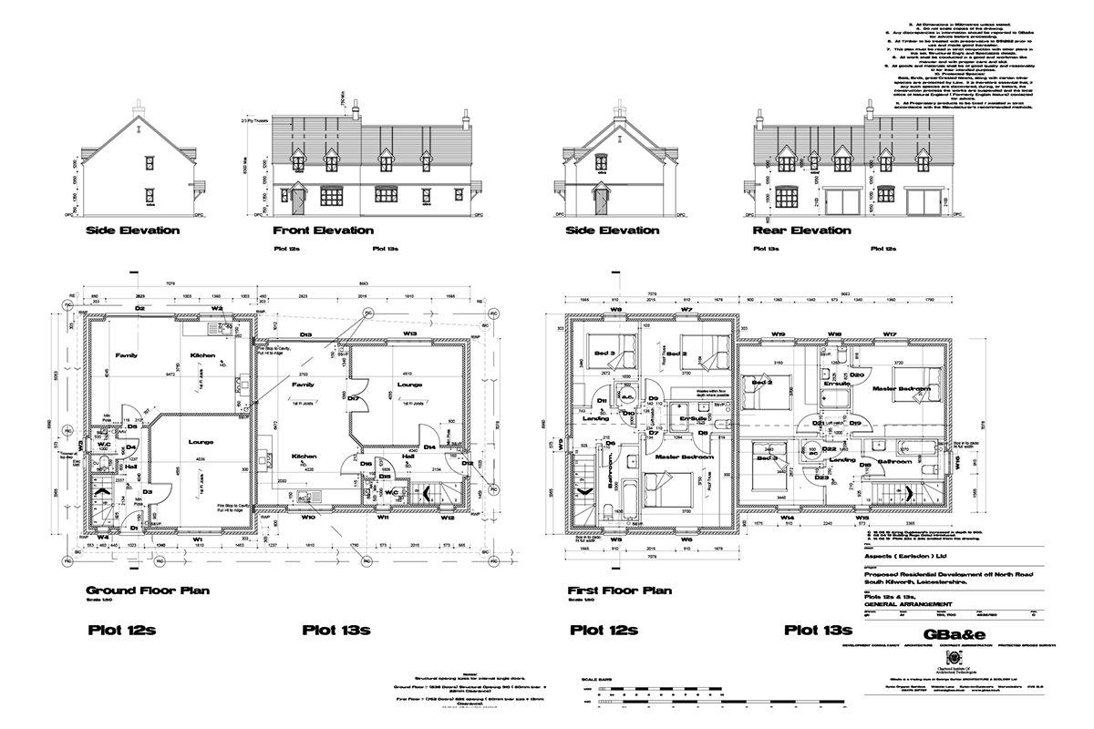 Mill Fields South Kilworth Plot 12 The Portland Plans