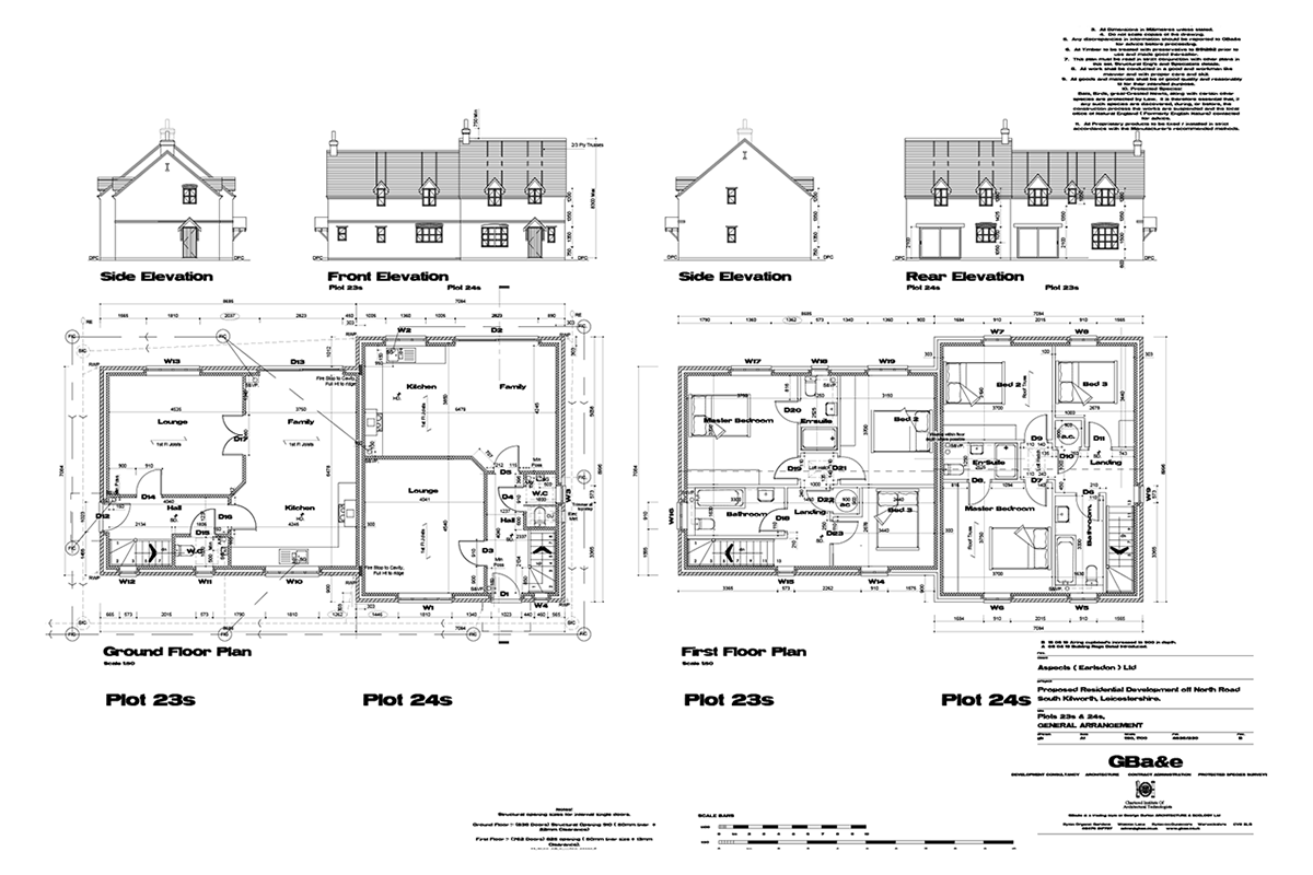 Mill Fields South Kilworth Plot 23 The Portland Plans